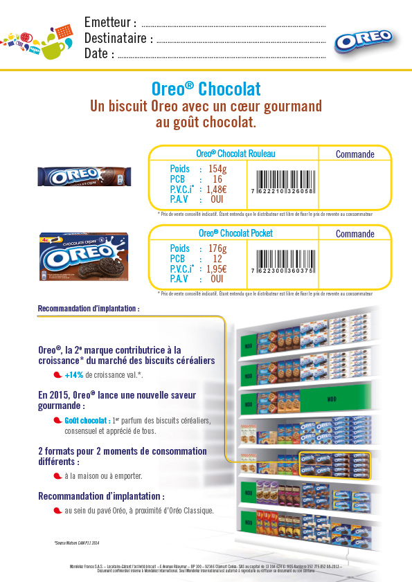 commerciale, plan de vente biscuit